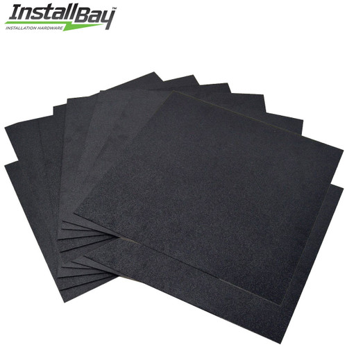 12 Pack ABS Plastic Textured Plastic Sheet 12in x 12in x 3/16in Black Smooth