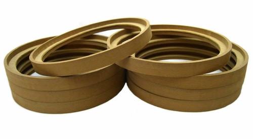 "4 Pair 8"" MDF Wood Speaker Ring Recess With Bezel Fiber Glass Molds"
