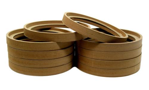 "5 Pair 8"" MDF Wood Speaker Ring Recess With Bezel Fiber Glass Molds"