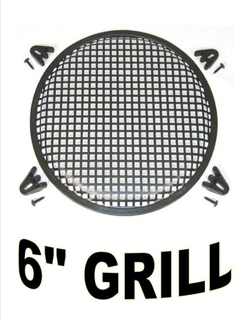 "6"" INCH WAFFLE SPEAKER SUB WOOFER METAL GRILL W/ CLIPS & SCREWS DJ CAR GR-6"