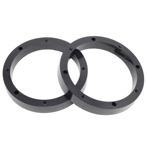 "1 Pair 8.5"" Plastic Speaker Spacer Rings Subwoofer Custom Mounting Adapter"
