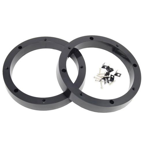 "2 Pair 8.5"" Plastic Speaker Spacer Rings Subwoofer Custom Mounting Adapter"