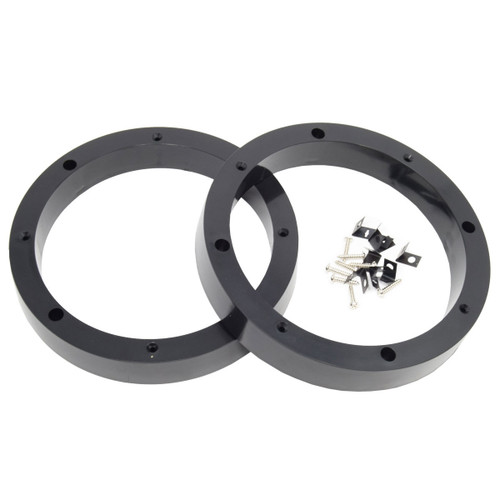 "4 Pair 8.5"" Plastic Speaker Spacer Rings Subwoofer Custom Mounting Adapter"