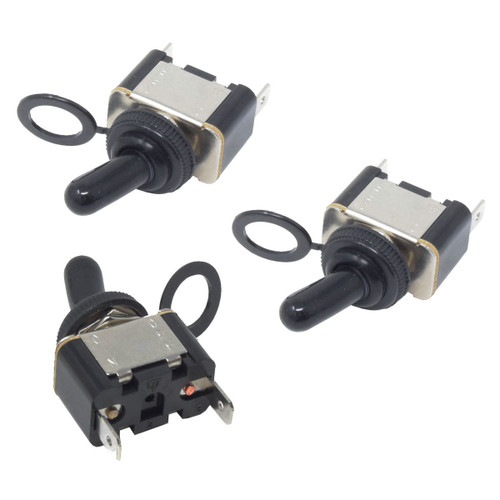 3-Pc Heavy Duty Toggle Switch 15A SPST 2-Pin ON/OFF Waterproof RZR Golf Cart Car