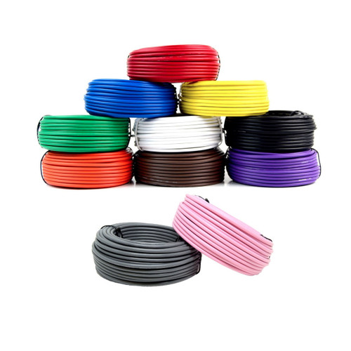 5 Rolls 50' Feet 14 Gauge Primary Remote Wire Car Auto Power Hook up Cable
