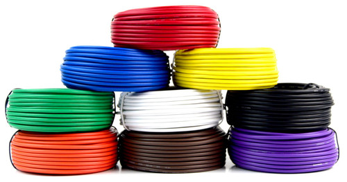 14 GA 50' Feet Audiopipe Primary Power Wire Remote Car Audio LED Home (7 Rolls)