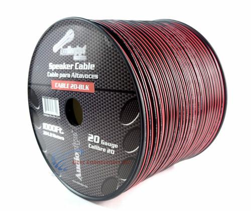 20 Gauge 1000 Feet Speaker Wire Red Black 2 Conductor Copper Clad Aluminum CCA