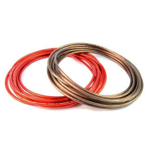 8 Gauge 25ft Black & 25ft Red Power/Ground Wire for Car Audio Amplifier Systems