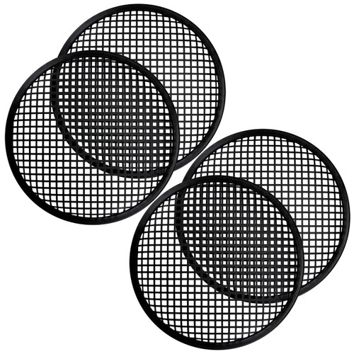 2 Pair 12 Inch Subwoofer Metal Waffle Grills - Universal Speaker Cover Guard
