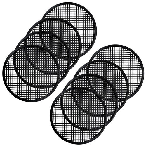 4 Pairs 12 Inch Subwoofer Metal Waffle Grills - Universal Speaker Cover Guard