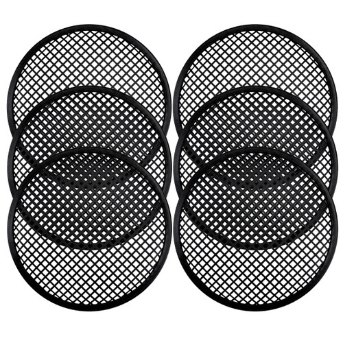 3 Pairs 15 Inch Subwoofer Metal Waffle Grills - Universal Speaker Cover Guard