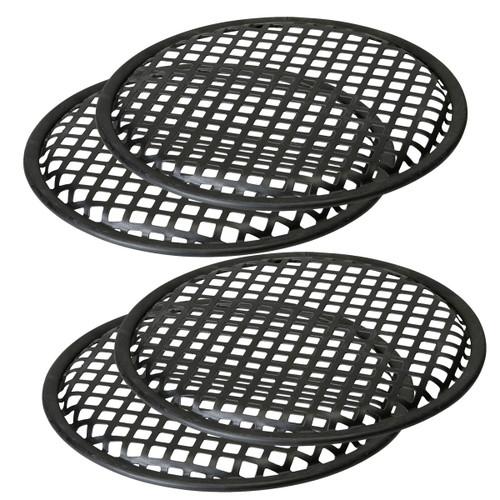"2 Pairs 6.5"" Subwoofer Metal Waffle Grills - Universal Speaker Mid Range"