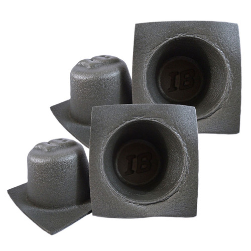"""2 Pairs 6.5"""" Acoustic Speaker Baffles Fitted Foam by Install Bay IBBAF65"""