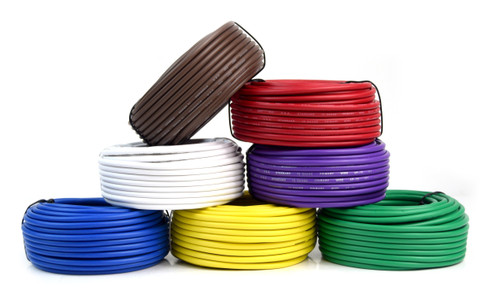 7-Rolls 12ga Power Ground Wire 50ft Primary Remote Cable Audiopipe (7 Colors)