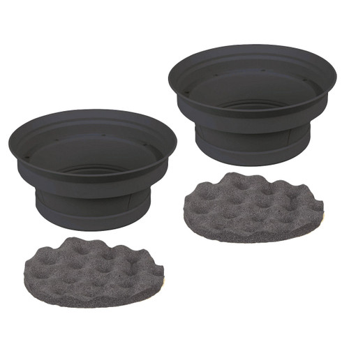 """1 Pair 6.5"""" Silicone Speaker Baffle Kit Bass Reflex IBSBF65 by Install Bay"""