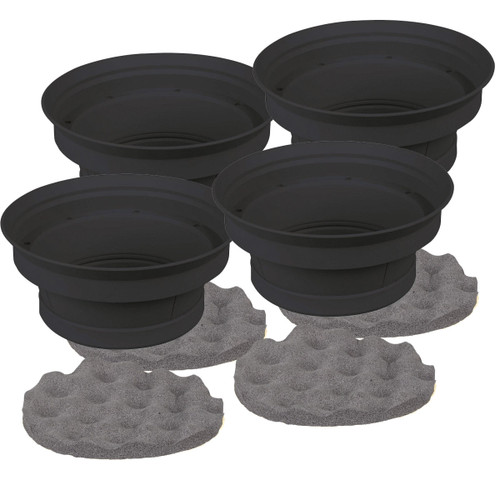 """2 Pairs 6.5"""" Silicone Speaker Baffle Kit Bass Reflex IBSBF65 by Install Bay"""