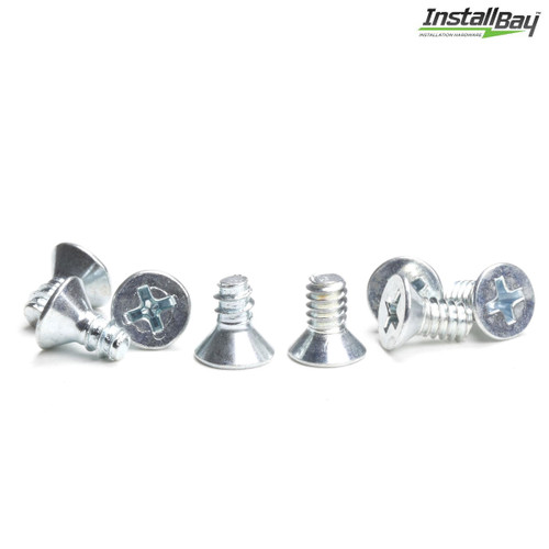 Install Bay ISO Flat Head Screw DIN Mounting Radio Install Pack 16-Pieces
