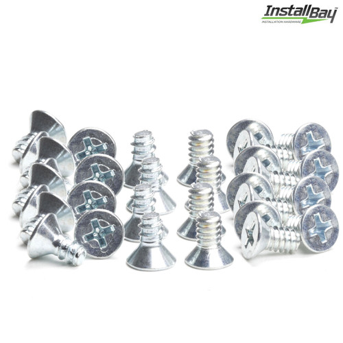 Install Bay ISO Flat Head Screw DIN Mounting Radio Install Pack 40-Pieces