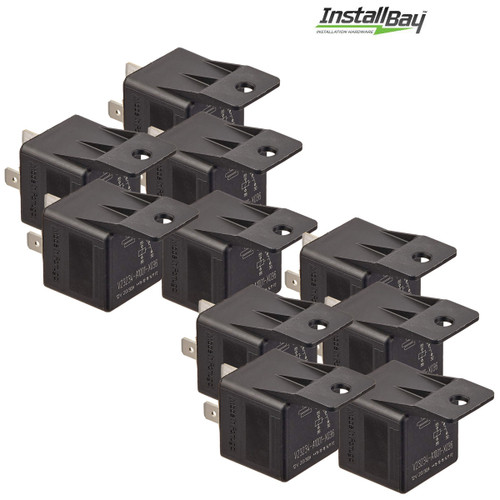 10-Pack Install Bay 20/30 Amp Relay SPDT 12V 5-Pin with Mounting Tab
