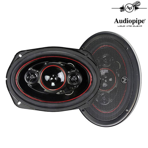 """Audiopipe 6x9"""" 4-Way CSL Series Coaxial Car Speakers 500 Watts (1-Pair)"""