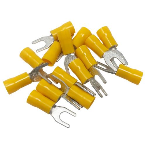 Install Bay Spade Terminal Connectors 12/10 Ga #10 Vinyl Yellow 100-Pack YVST10
