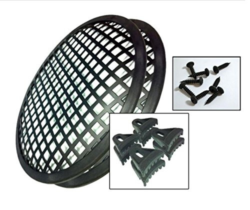 """1 Pair 6"""" Grill Waffle Speaker Sub Woofer Grills with 8 Clips and 8 Screws"""