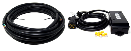 25' Ft 7-Way Trailer Wire Harness 4-14 & 3-12 Gauge Insulated Stranded Wire W/ 7-Way Trailer Wiring Junction Box Upgrade Kit