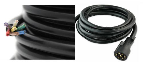50' Feet 7-Way Trailer Wire Harness Wire W/ 7-Way Trailer Connector