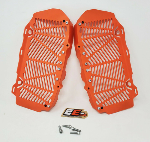 Enduro Engineering Custom Orange Radiator Guards Billet for 16-21 KTM/Husqvarna