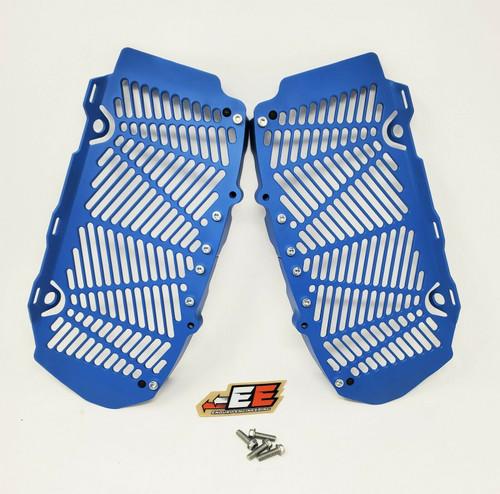 Enduro Engineering Custom Blue Radiator Guards Billet for 16-21 KTM/Husqvarna