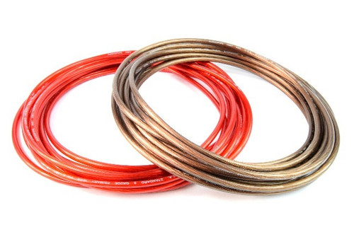 8 Gauge 50 Feet Total 25' Black and 25' Red Power Ground Wire Cable Car Audio