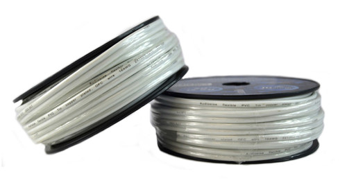 Two Rolls 50 Feet 16 Gauge White Marine Wire Tin Copper Plated OFC Speaker Cable