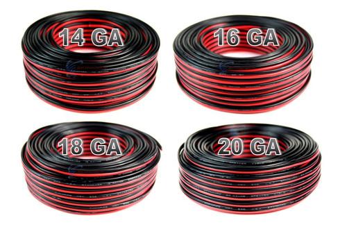 4 Pack 14, 16, 18, 20 gauge 100 Feet each Red Black Stranded Speaker Wire Zip