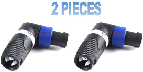 Two Pieces Audio Right Angle 4 Pin Male Speak on Connector