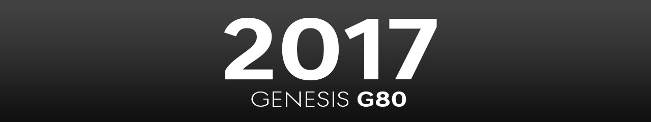 2017 Genesis G80 Accessories and Parts