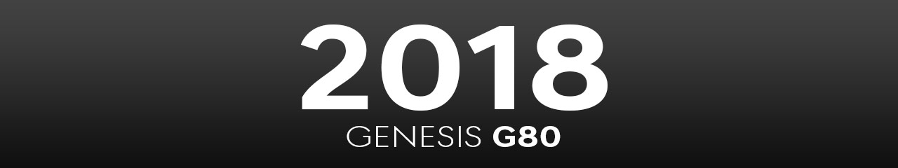 2018 Genesis G80 Accessories and Parts