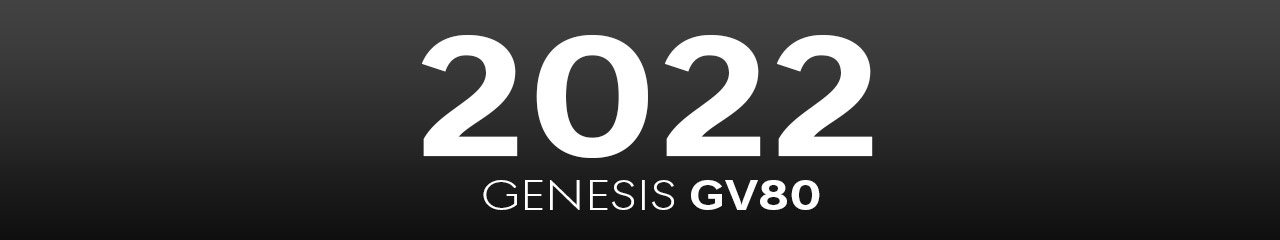 2022 Genesis GV80 Accessories and Parts