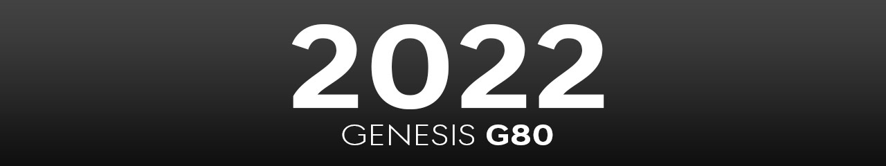 2022 Genesis G80 Accessories and Parts