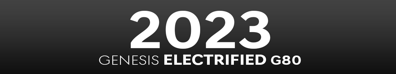 2023 Genesis Electrified G80 Accessories and Parts