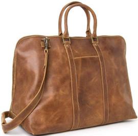 Distressed Leather Getaway Duffel