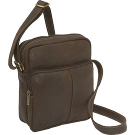 Distressed Leather Mens Day Bag