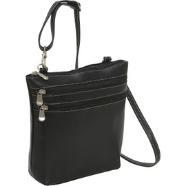 3 Zip Crossbody Shoulder Bag