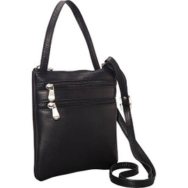 Two Zip Mini Crossbody Bag