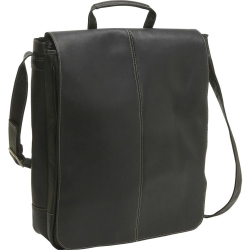 "17"" Vertical Laptop Messenger Bag"