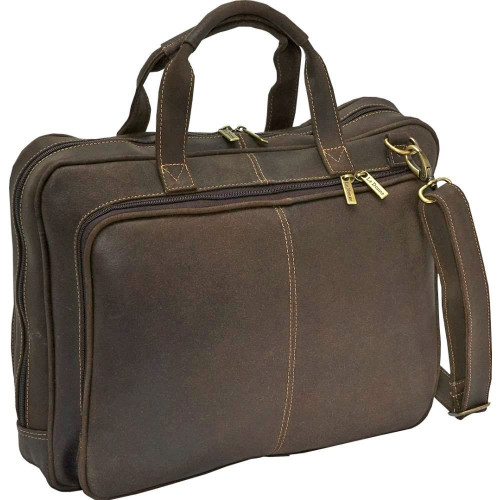 Distressed Leather Laptop Brief