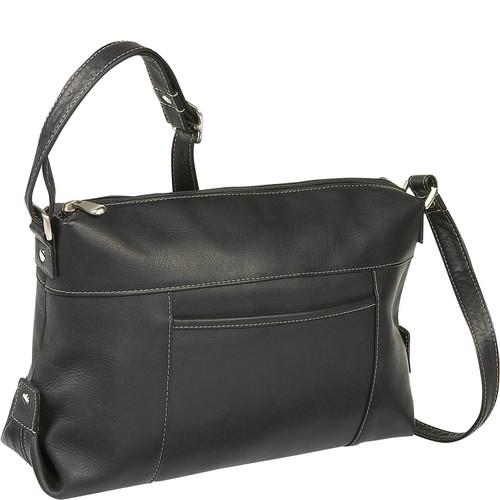 Top Zip Front Slip Shoulder Bag
