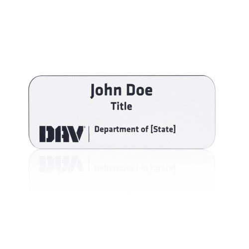 DAV Department Name Badge