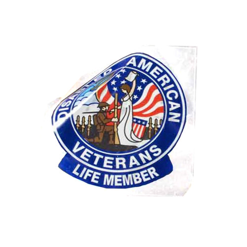 "4"" Life Member Static Cling Adhesive / Single"