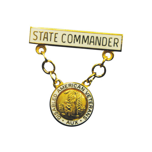 State Commander Bar and Pendant - Auxiliary Pin