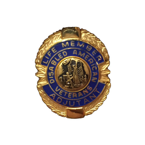 Blue Adjutant Life Member Officer Lapel Pin